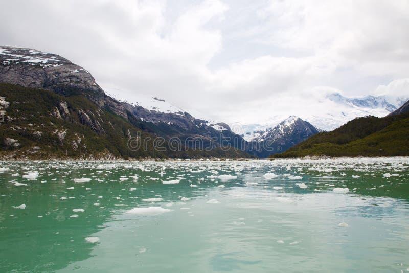 Pia lodowiec w Patagonia, Chile w lecie zdjęcia stock