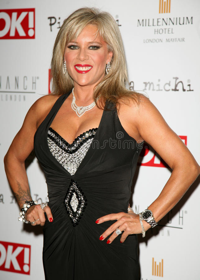 Pia Michi, Fashion Show, Samantha Fox royalty free stock photography