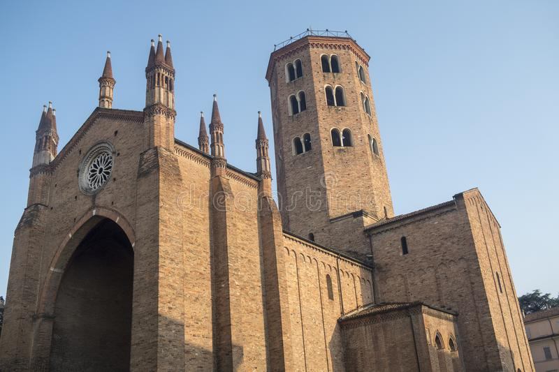 Sant`Antonino, historic church in Piacenza, Italy royalty free stock photos