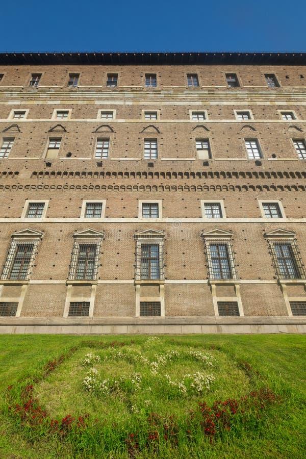 Piacenza: het historische die gebouw als Palazzo Farnese wordt bekend royalty-vrije stock afbeeldingen