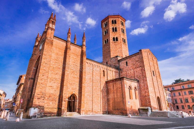 Piacenza, Emilia-Romagna, Italy. Piacenza, Italy. Basilica of St. Anthony famous for pilgrimage route in Emilia-Romagna royalty free stock photos