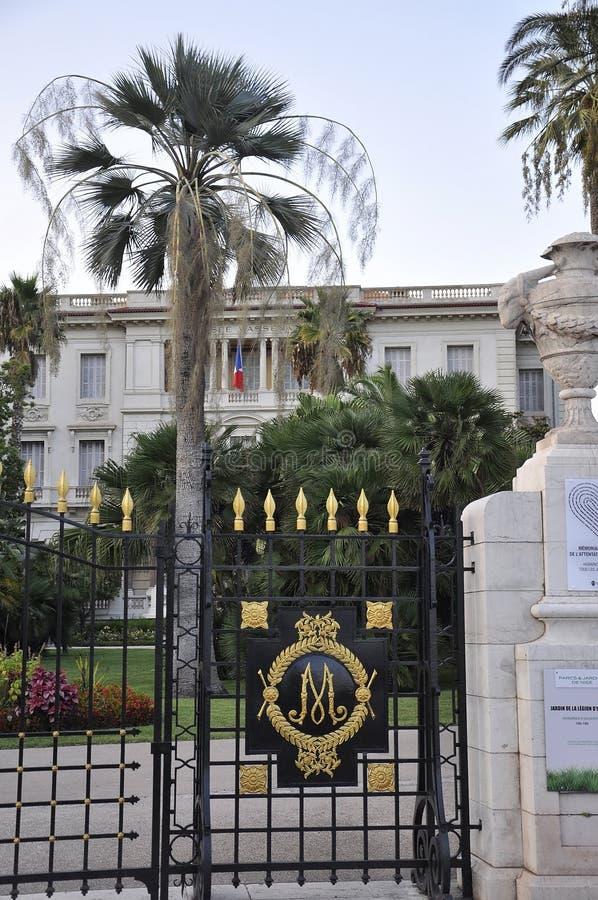 Piacevole, il 5 settembre: Monumento storico dal boulevard famoso di Promenade des Anglais in Metropola Nizza fotografia stock