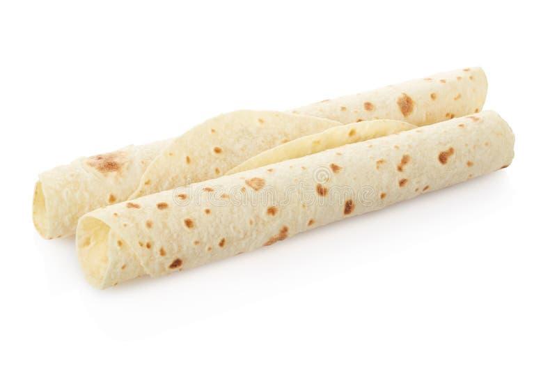 Piadina, обручи итальянского tortilla пустые стоковая фотография rf