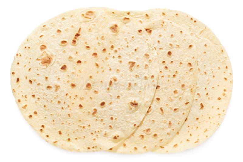 Piadina, groupe italien de tortilla images libres de droits