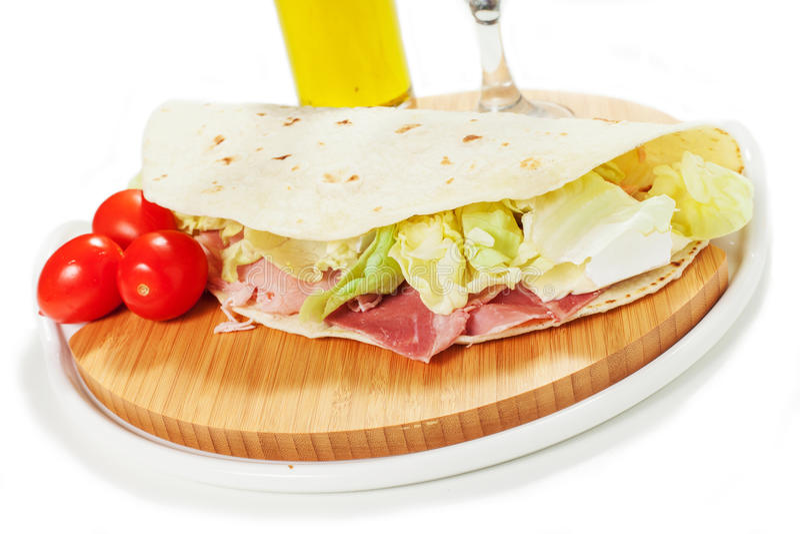 Piadina italiano tradicional foto de stock