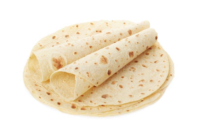 Piadina, montão italiano da tortilha com envoltórios fotos de stock royalty free