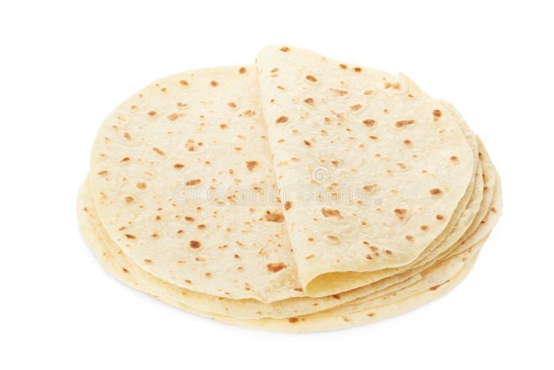Piadina, montón italiano de la tortilla imagen de archivo libre de regalías