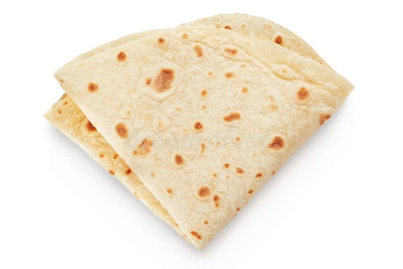 Piadina, pain sans levain italien images stock