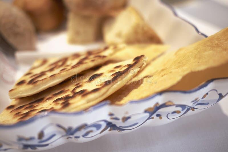 Piadina Romagnola en brood stock foto's
