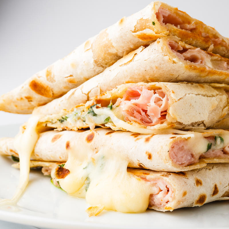 Download Piadina sandwich stock photo. Image of food, portion - 29387140