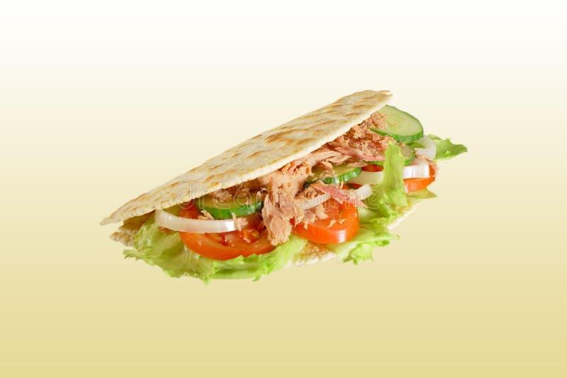 Piadina with tuna. Italian specialty - piadina with tuna stock images