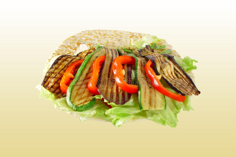 Piadina With Vegetables Royalty Free Stock Images