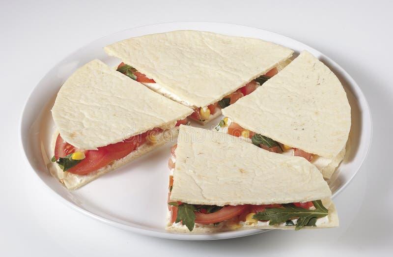 Piadina vegetariana obrazy stock