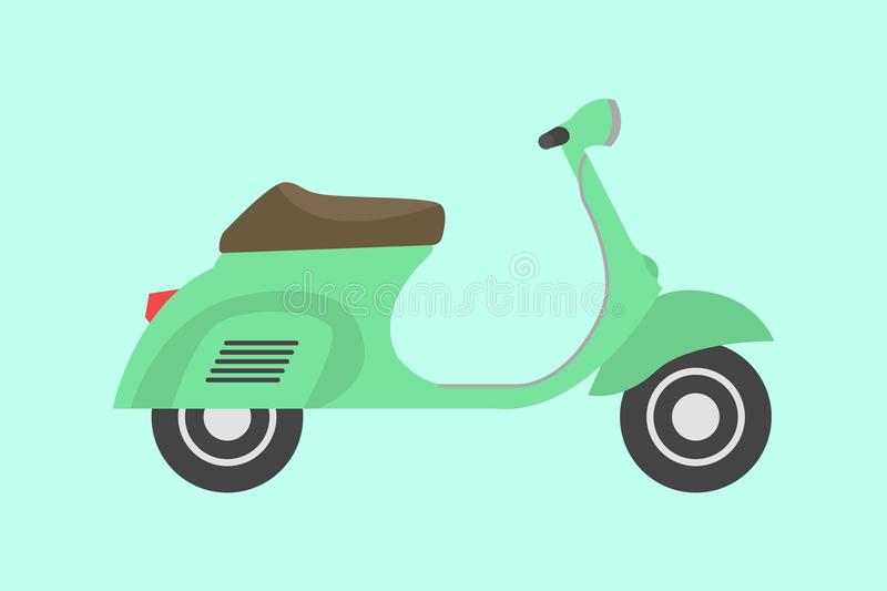 Piaggio Vespa italian scooter illustration. One of the most famous italian scooter, part of the italian heritage and culture vector illustration