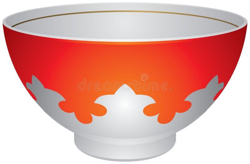 Piala ou Piyala, cuvette de thé asiatique centrale de tradition illustration stock
