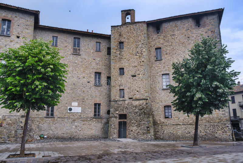 Pianello Val Tidone Piacenza, Italië: kasteel stock afbeelding