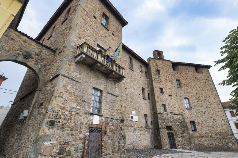 Pianello Val Tidone Piacenza, Italië: kasteel royalty-vrije stock afbeeldingen