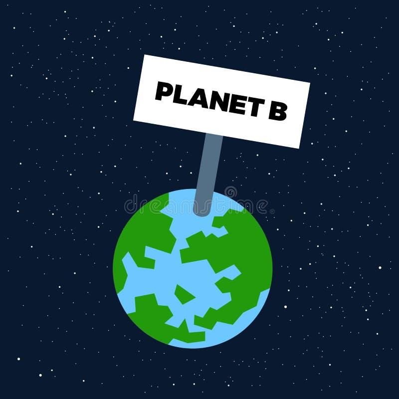 Pianeta B - la civilizzazione umana colonizating la nuova terra in spazio ed universo illustrazione vettoriale