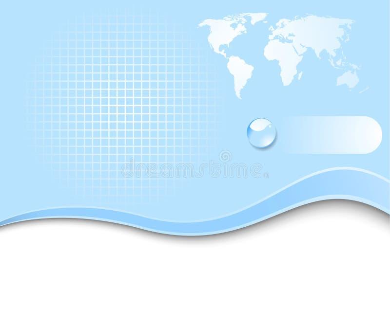 Pianeta della terra - bandiera di Web illustrazione di stock