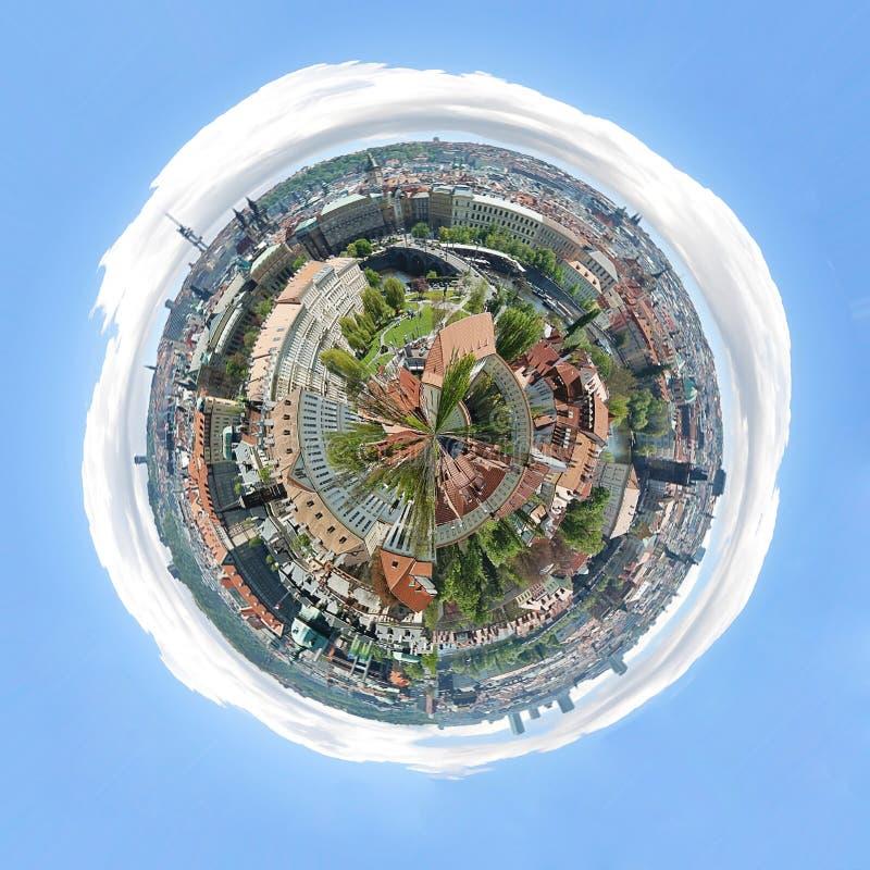 Pianeta di panorama di Praga fotografie stock