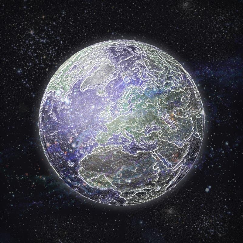 pianeta di vetro fragile - salvare la Terra illustrazione di stock