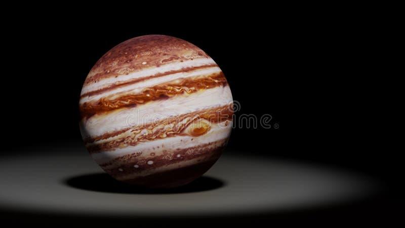 Pianeta Giove, gigante di gas, insieme del sistema solare immagini stock