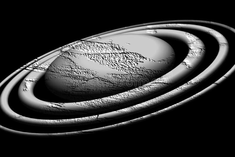 Pianeta grigio isolato della terra su fondo nero nelle tonalità variopinte fotografia stock libera da diritti