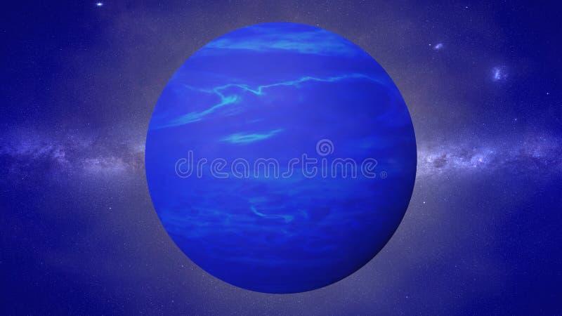 Pianeta Nettuno, l'ottavo pianeta dal Sun, pianeta nel sistema solare illustrazione vettoriale