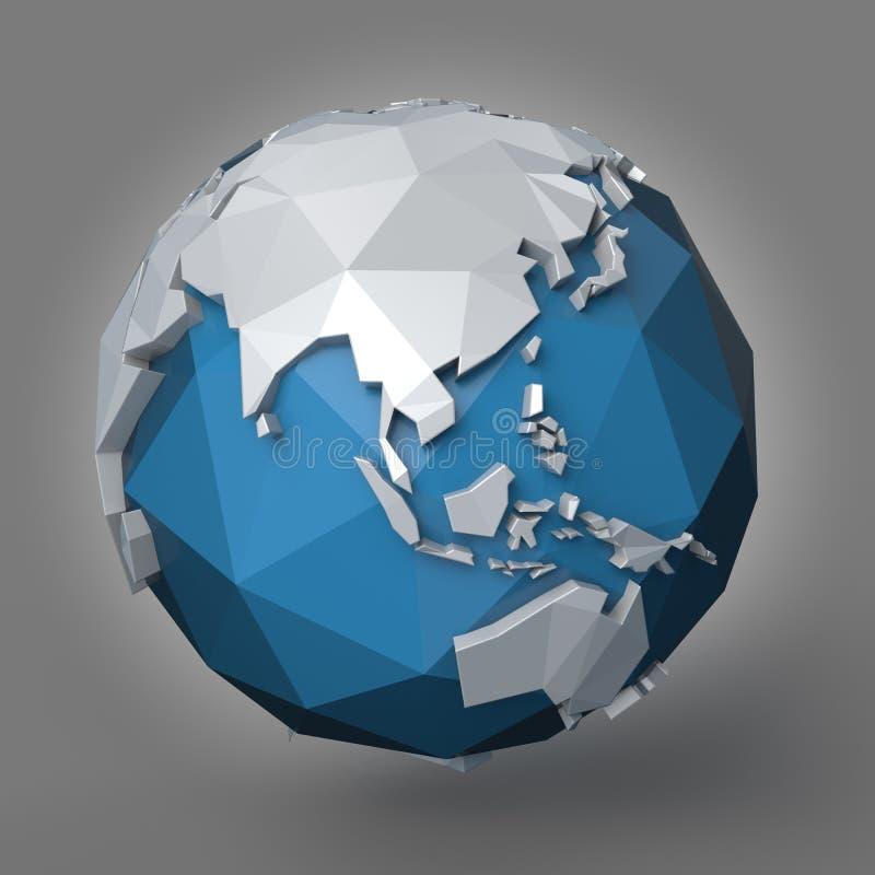 Pianeta poligonale della terra illustrazione di stock