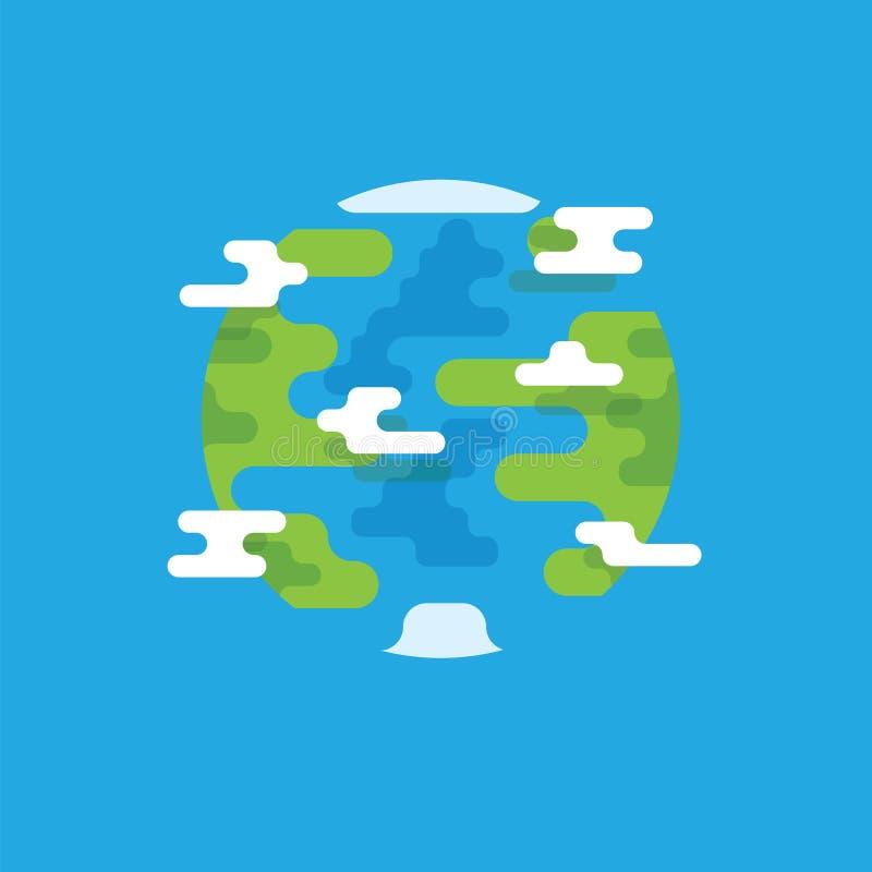 Pianeta Terra con il punto di vista dei continenti e dei paesi dall'illustrazione di vettore di spazio dell'universo Pianeta Terr illustrazione di stock