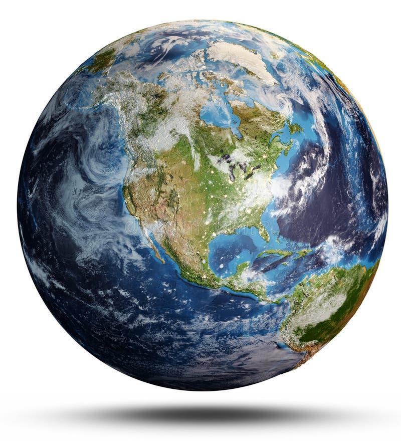Pianeta Terra da spazio rappresentazione 3d immagini stock