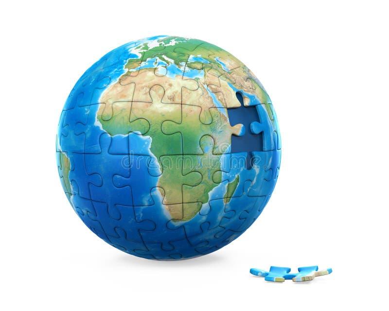 Pianeta Terra di puzzle illustrazione vettoriale