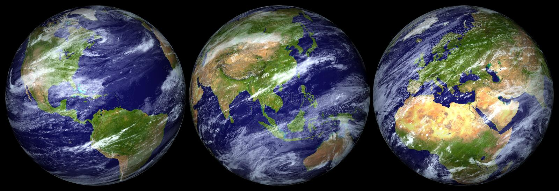 Pianeta Terra isolato - png illustrazione di stock