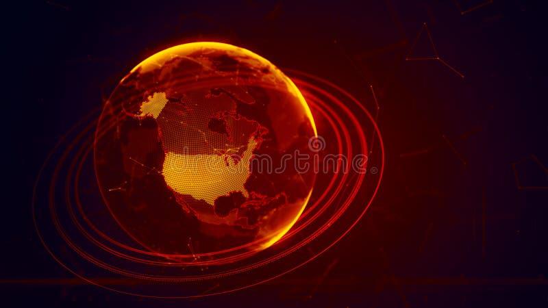Pianeta Terra virtuale dettagliato illustrazione vettoriale
