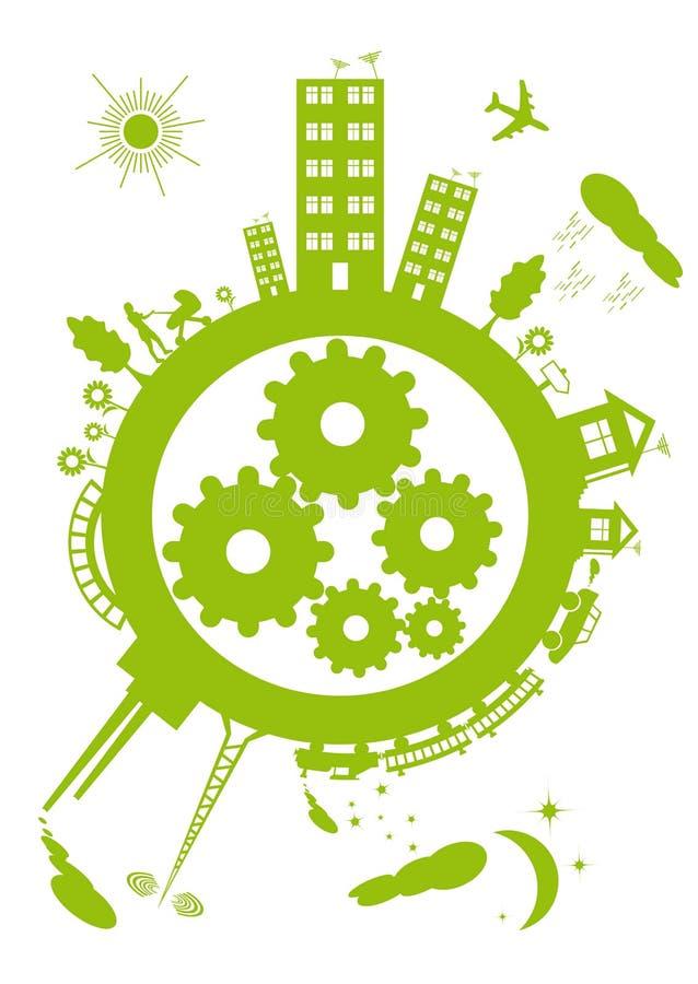 Pianeta verde illustrazione di stock