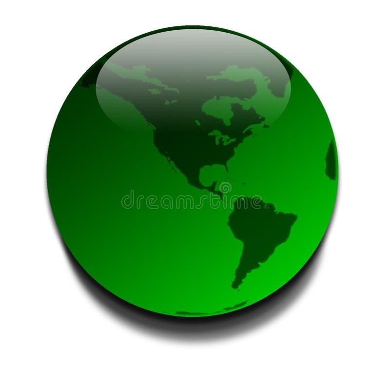 Pianeta verde illustrazione vettoriale