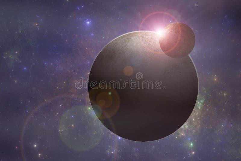 Pianeti dello spazio profondo illustrazione vettoriale