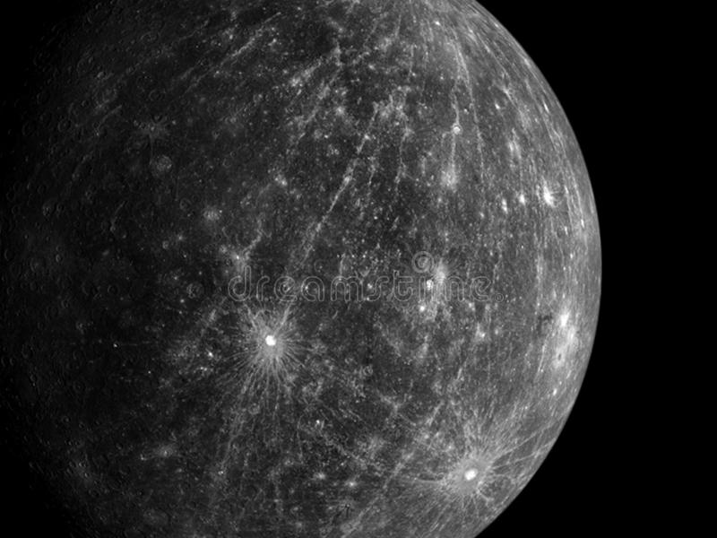 Pianeti e galassia, carta da parati della fantascienza fotografia stock