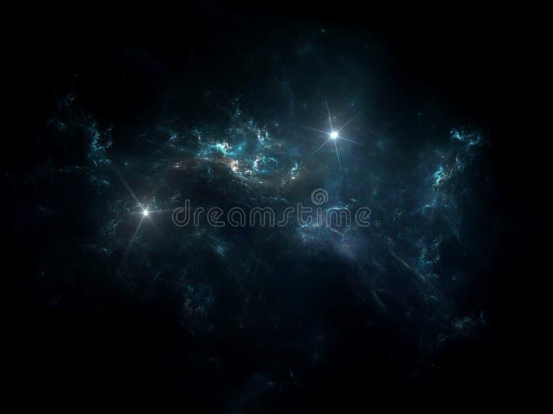 Pianeti e galassia, carta da parati della fantascienza immagine stock