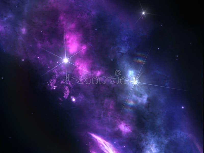Pianeti e galassia, carta da parati della fantascienza fotografie stock