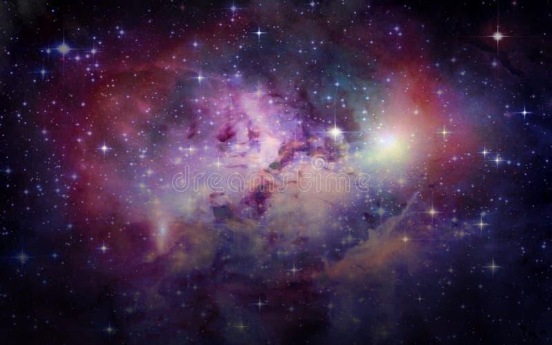 Pianeti e galassie, carta da parati della fantascienza Bellezza di spazio profondo illustrazione vettoriale