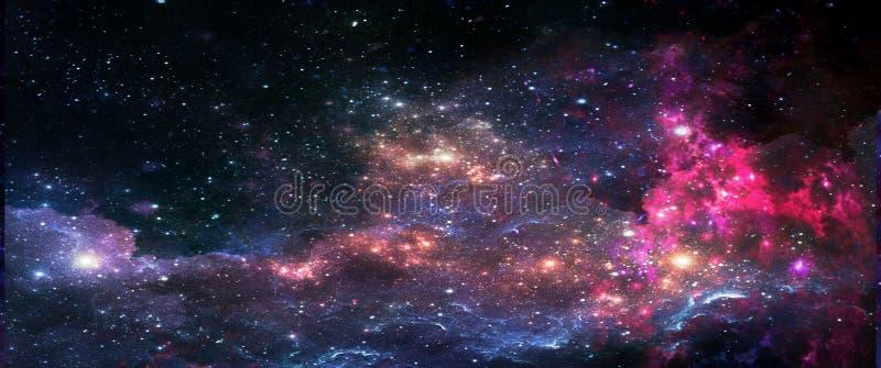 Pianeti e galassie, carta da parati della fantascienza Bellezza di spazio profondo fotografie stock
