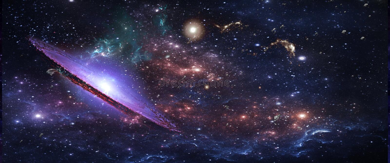 Pianeti e galassie, carta da parati della fantascienza Bellezza di spazio profondo fotografia stock libera da diritti
