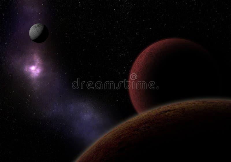 Pianeti sconosciuti Esplorazione spaziale royalty illustrazione gratis