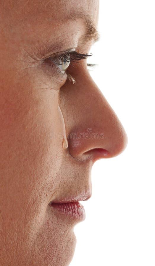 Piangendo, donna triste, fotografia stock