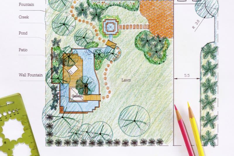 Piani del giardino dell 39 acqua di progettazione dell for Software di progettazione di costruzione di case gratuito