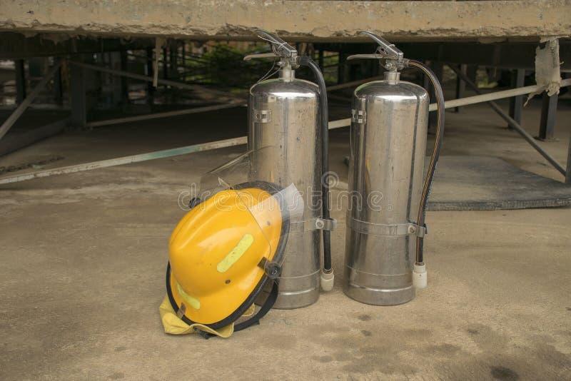 Piani di protezione contro l'incendio di pratica e di addestramento, stoccaggio di gas di GPL, agosto 29, 2018 fotografia stock libera da diritti