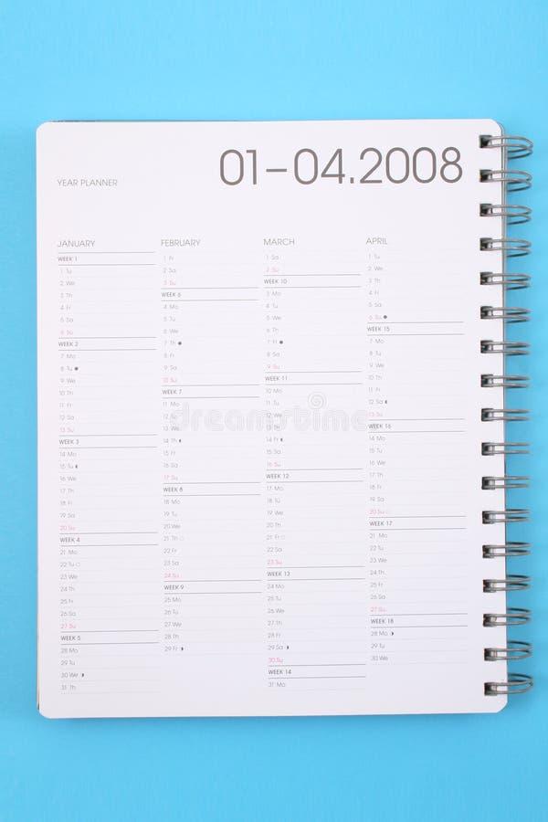Pianificatore di anno immagine stock