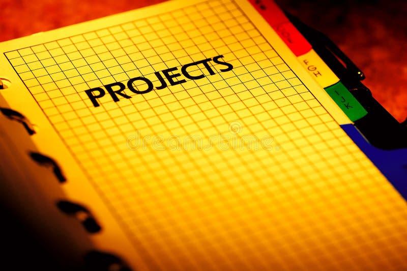 Pianificatore di progetto fotografia stock
