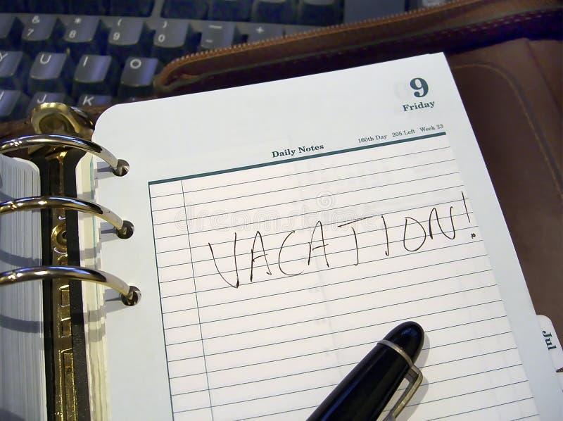 Pianificatore di vacanza fotografia stock